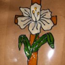 Lily Cross!  Faux Stained Window Cling