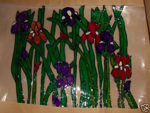 Iris's!  Faux Stained Window Cling