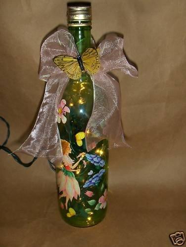 Farries Lighted Wine Bottle