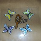 Butterfly's &  Net Faux Stained Window Cling