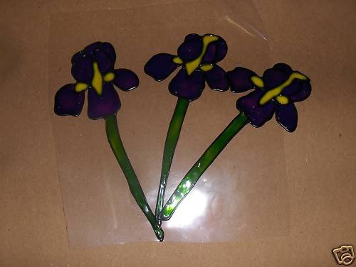 Iris 's Faux Stained Window Cling
