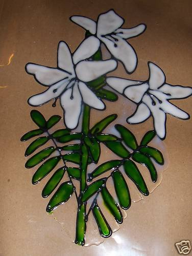 Lily;s   Faux Stained Window Cling