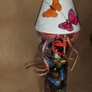 Butterfly's With Shade  Lighted Wine Bottle