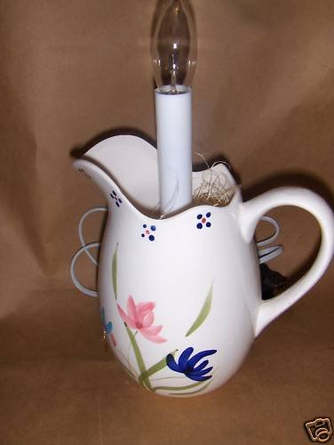 Fowers Lighted  Pitcher Coffee Cup