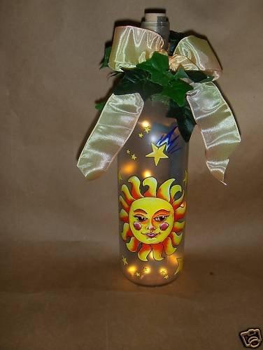 Sun ! Lighted Wine Bottle