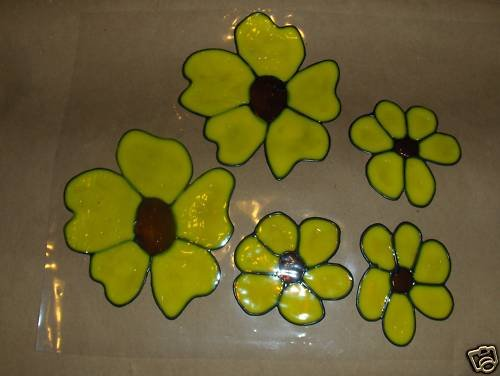 Black Eyed Suies  Faux Stained Window Cling