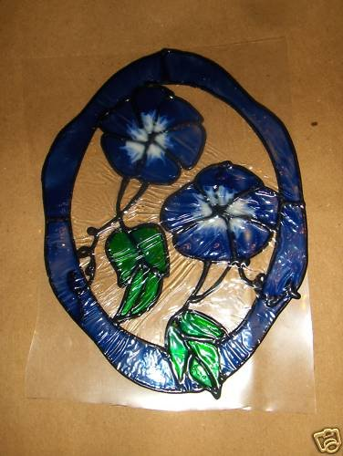 Morning Glory's  Faux Stained Window Cling
