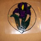 Iris  Faux Stained Window Cling