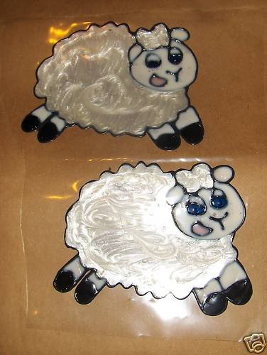 Sheep Faux Stained Window Cling