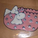 Baby Girl  Bootie Faux Stained Window Cling