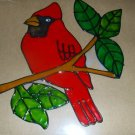 Cardinal  Faux Stained Window Cling