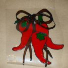 Chile Peppers   Faux Stained Window Cling