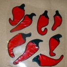 Red Peppers   Faux Stained Window Cling