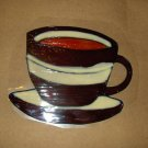 Coffee Cup   Faux Stained Window Cling