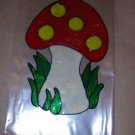 Mushrooms  Faux Stained Window Cling