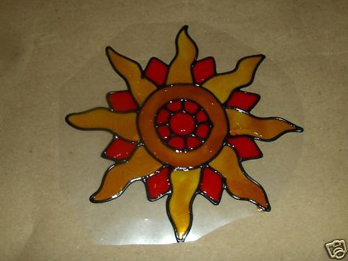Sun Faux Stained Window Cling