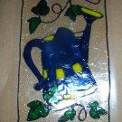 Watering Can Faux Stained Window Cling
