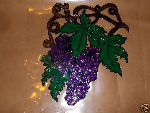 Grapebunch  Faux Stained Window Cling