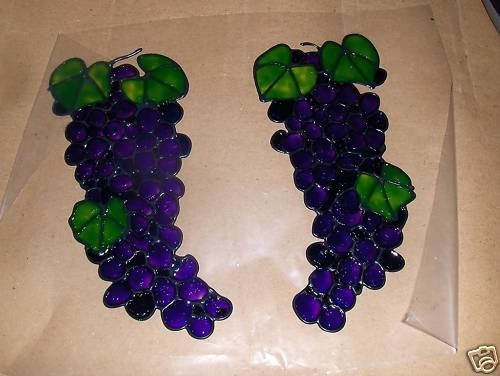 Grapebunchs  Faux Stained Window Cling