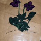 Violets  Faux Stained Window Cling