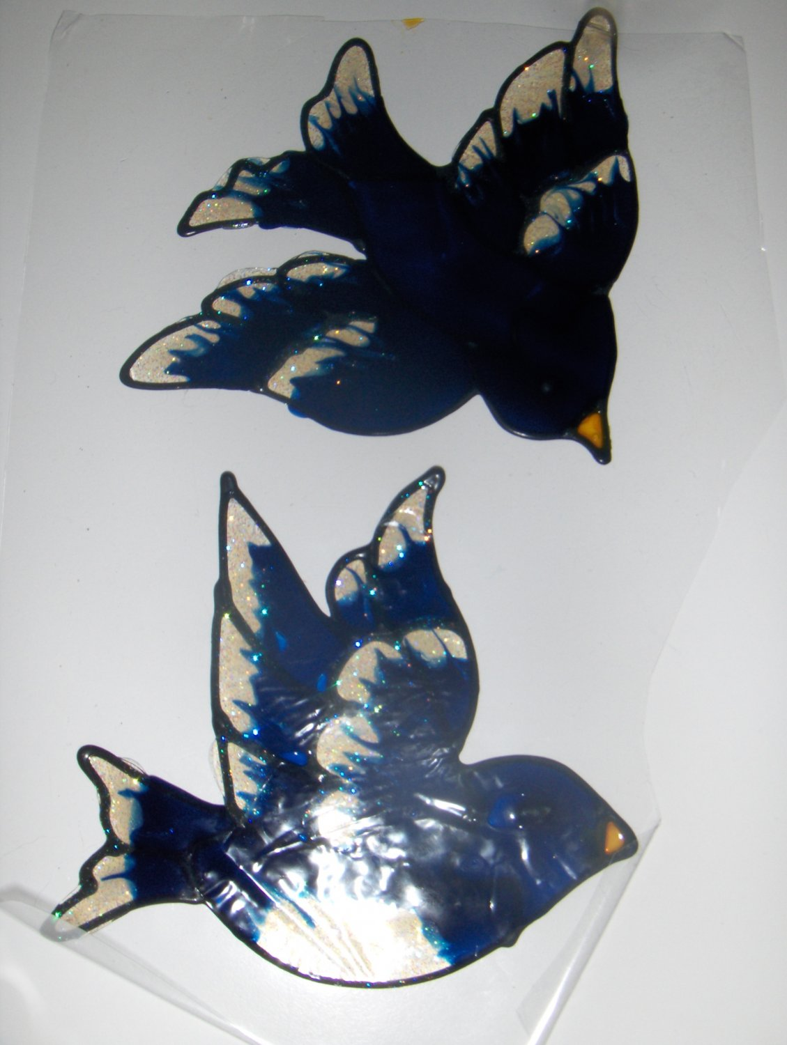Bluebird Faux Stained Window Cling