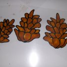 Pine Cones  Faux Stained Window Cling