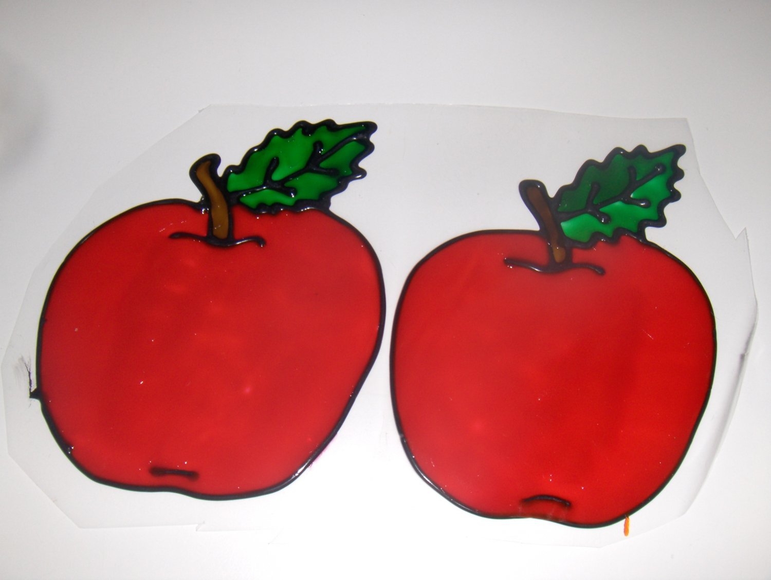 Apples Faux Stained Window Cling