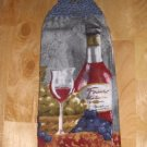 WINE CROCHET  TOP HANGING   KITCHEN DISH TOWEL