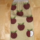 APPLES CROCHET  TOP HANGING    KITCHEN DISH TOWEL