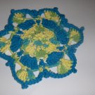 FLOWER  SHAPED HANDMADE DISHCLOTH