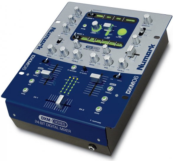 DXM06 / 24 Bit Digitalmixer 12 Effekte, 3 Band Kill EQ