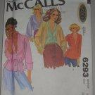 1978 McCall's Pattern 6293 Blouse Jacket Size 10 Uncut Vintage 70s
