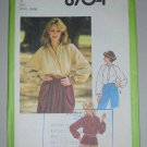 Uncut 1978 Simplicity Blouse Pattern 8704 Size 10 Long Raglan Sleeves