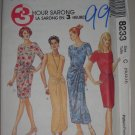 1996 McCall's Pattern 8233 Sarong Dress Size 10-12-14 Uncut Women's Summer Tropical Wrap Dress