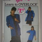 CUT Vintage Simplicity 9233 Cardigan Dress Skirt Sz 10-16 Women's 80s Knit Wear Pullover Set