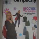 Simplicity Sewing Pattern 8869 Junior Girl's Outfit Sz 11-16 Uncut Preppy Pea Jacket Pants Top Skirt