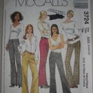 McCall's Pattern 3724 Women's Pants Size 4-6-8-10 Uncut Low Rise Classic Wide Leg Trouser Pants