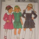 Girls' Cute Dolly Dress Sizes 4-6 Uncut Style Pattern 3996 Children's Peter Pan Sailor Collar Dress