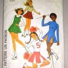 CUT Girls' Cheerleader Skating Costumes Sizes 7-8 Simplicity 8131 Flared Flouncy Jumper Dress Skirt