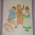 Girls' Sweet Pinafore Dress Sz 1 Simplicity Sewing Pattern 8279 Ruffle Gathered Dress Apron