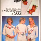 Floral Ivy Leaves Heat Transfers Vogue Sewing Pattern 2633 Embroidery Applique Clothing Crafts
