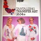 Vogue Sewing Pattern 2634 Tropical Orchid Peacock Transfers for Embroidery Applique