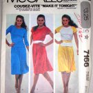 80s Knit Skirt Top Set Size S Uncut McCall's Pattern 7166 Women's Stretch Sporty Casual Separates