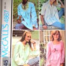 70s Ladies Poet's Blouse Tops Size S Uncut McCall's Pattern 4867 Maternity Convertible Boho Hippy