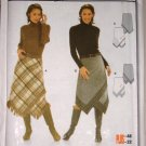 Burda 8276 Handkerchief Hem Skirt Sizes 10-22 Uncut Fitted Boho Chic Ladies' Skirt