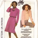 70s Cowl Top and Skirt Size M Uncut Simplicity Pattern 8162 Women's Retro Casual Knit Separates