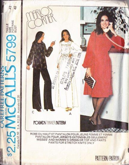 CUT Retro Square Yoke Gathered Dress Plus Size 42 McCall\'s 5799 ...