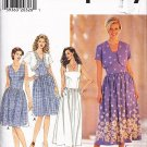 Women's Rockabilly Dress and Bolero Size 10-14 Uncut Simplicity 7649 Gathered Skirt Cropped Jacket