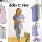 Casual Maternity Knit Outfit Size 8-14 Uncut Simplicity 9188 Pregnancy Tops Dresses Capris Shorts