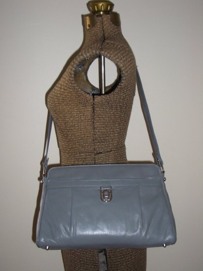 Grey Vintage Etienne Aigner Purse Structured Ladylike Shoulder Bag Retro Granny Classic Elegant Chic